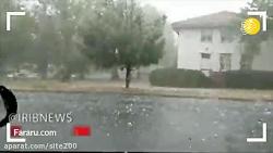 بارش سهمگین تگرگ و طوفان شدید در استرالیا