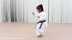 کاراته بازی دختر 6 ساله