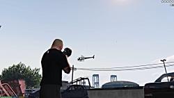دیوانه بازی و حمله به پلیس توسط براک لزنر در بازی GTA V