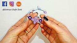 آموزش بافت دستبند مکرومه بافی زیبا و هنرمندانه - دستبند بافتنی