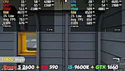 Ryzen 5 2600 + RX 590 vs i5-9600K + GTX 1660