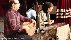 آهنگ مهتاب هایده اجرا با سنتور خانم مهشید اکبری و تمبک علی نوری