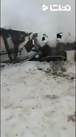 تصاویری از هواپیمای سقوط  کرده در غزنی افغانستان