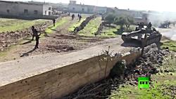 تازه ترین تصاویر از نبرد ارتش سوریه با تروریست ها در جنوب شرق ادلب