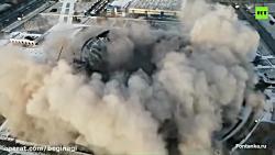 مرگ کارگر هنگام تخریب سقف سالن کنسرت در روسیه
