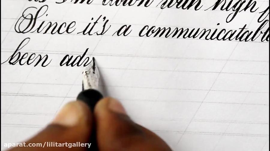 آموزش خوشنویسی تحریری نامه نویسی با خودنویس