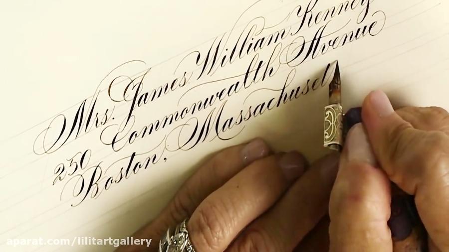 آموزش خطاطی و خوشنویسی انگلیسی برای کارت تبریک