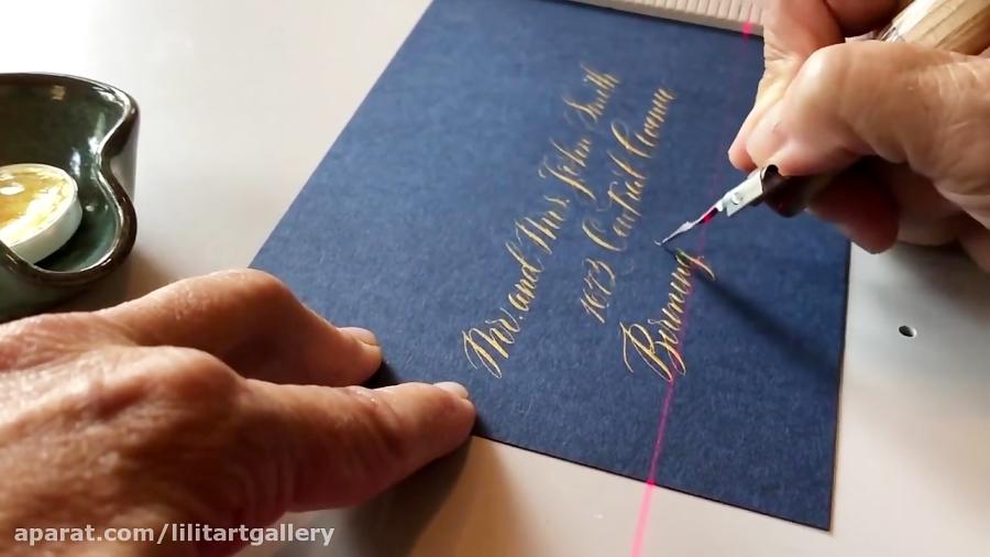 آموزش خوشنویسی کارت دعوت عروسی به انگلیسی