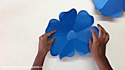 آموزش گل سازی  با کاغذ رنگی
