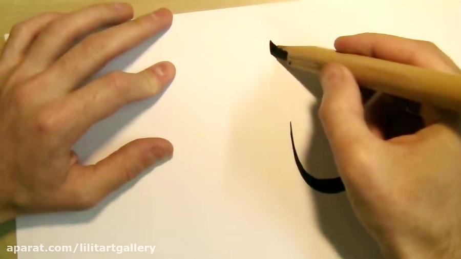 آموزش تراشیدن صحیح قلم و خطاطی حرفه ای اسلامی