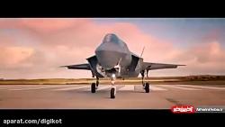 مسابقه زمینی مکلارن اسپیدتیل با جنگنده F-35