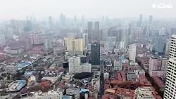 تصاویر هوایی از شهر قرنطینه  شده ووهان چین (شهر ارواح)