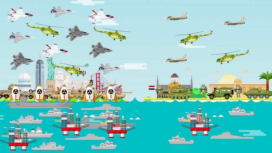سوریه در برابر آمریکا - چه کسی پیروز خواهد شد؟! (مقایسه قدرت نظامی)(انگلیسی)