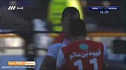 گل اول پرسپولیس در دربی نود و یکم توسط علی علی پور در دقیقه بیست و هشتم