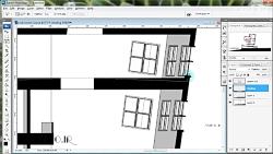 راندو و پرزانته نما و برش معماری در فتوشاپ