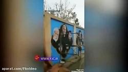 عکس شهدای مدافع حرم روبه روی حرم حضرت زینب