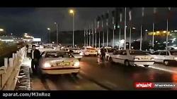 تصادف زنجیرهای در صبح برفی تهران