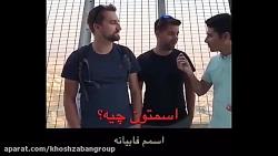 مصاحبه با توریست های سوئیسی در برج میلاد تهران