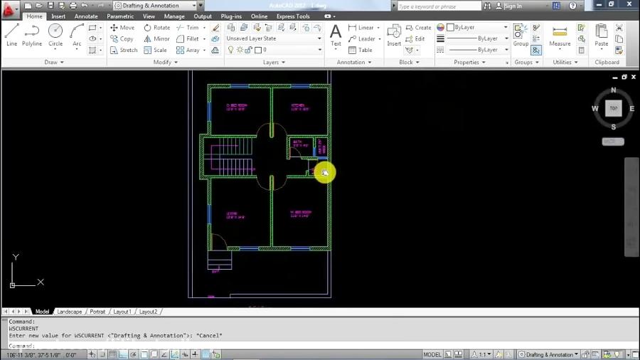 آموزش طراحی سه بعدی یک ویلای شیک و مدرن با Autocad