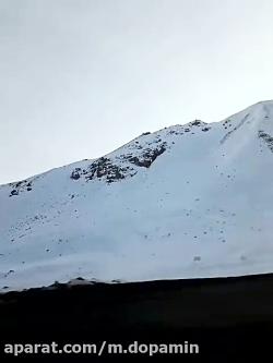گردنه حیران به سوی اردبیل برفی