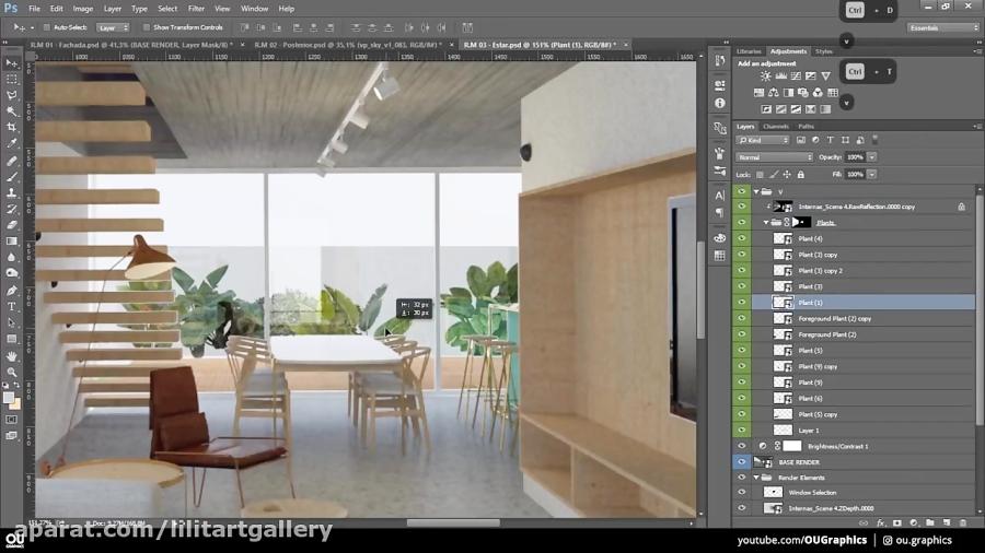 آموزش طراحی یک تصویر دکوراسیون داخلی در برنامه فتوشاپ