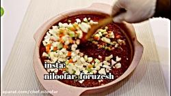 ترشی گوجه یا سالاد زمستونی (نیلوفر فروزش)