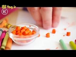 بیکار نباشیمـ ^-^ ترفند ساختـ مداد شمعیـ مدلـ کاپـ کیکـ