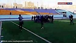 جشن پیروزی بازیکنان استقلال در دربی امیدها.