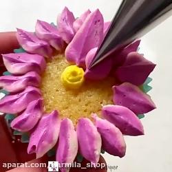 تزیین کاپ کیک زیبا - لوازم قنادی نارمیلا