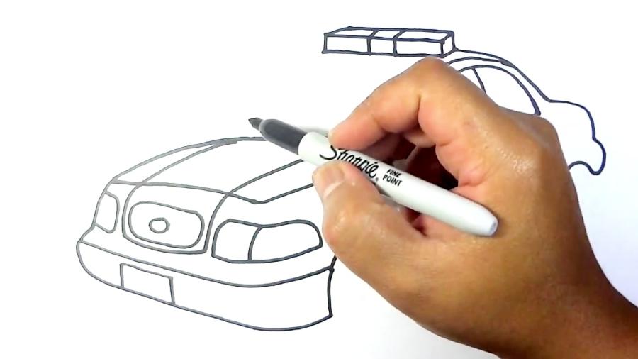 آموزش نقاشی به کودکان - ماشین پلیس