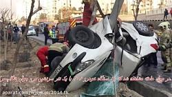 نجات معجزه آسای راننده پژو206