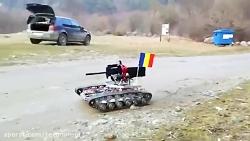 آزمایش ربات تانک