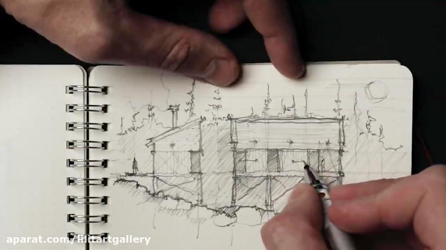طراحی سازه مسکونی روی شیب در طبیعت