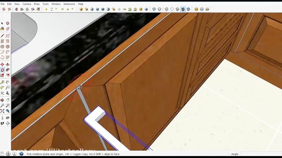آموزش طراحی آشپزخانه در محیط سه بعدی