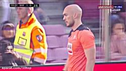 خلاصه بازی بارسلونا 5 - ایبار 0 (پوکر مسی)