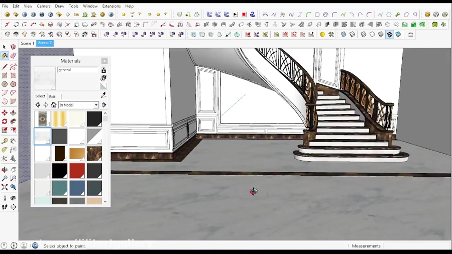 طراحی پله های داخلی به صورت سه بعدی حرفه ای