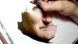نقاشی حرفه ای از رابین ویلیامز