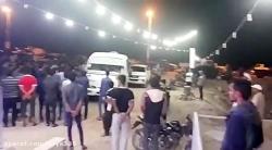 درگیری مردم قشم با اتوبوس مسافران به این شهر