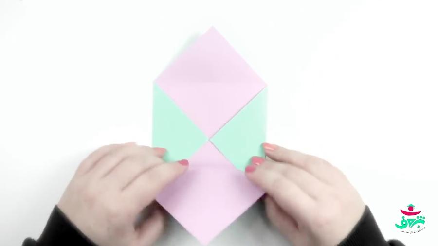 آموزش ساخت پاکت نامه بدون چسب (اوریگامی)