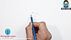 آموزش نقاشی کودکان : نقاشی و طراحی میمون بازیگوش و رنگ آمیزی #آموزش نقاشی