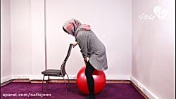 سه حرکت ورزشی با توپ زایمان