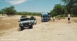 بکسل کامیون 20 تنی توسط 2 لندروور