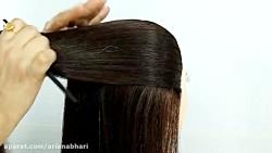 روش بافت مو عروس اروپایی