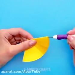 ترفند های کاردستی تزیینی با کاغذ های رنگی