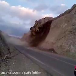 رانش زمین درشمال-واقعا راننده پرایدشانس اورد