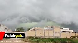 فیلم ابرهای سبز در استان فارس و وحشت مردم