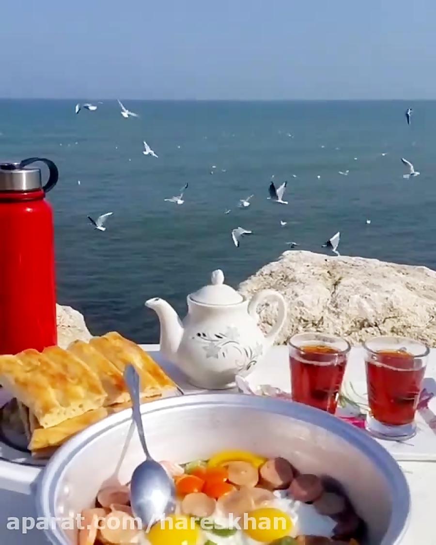 عکس صبح بخیر با صبحانه