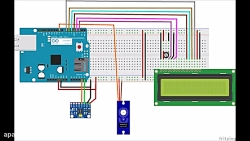 اتصال آردوینو به mpu6050 و نمایش مقادیر روی LCD و کنترل سرو
