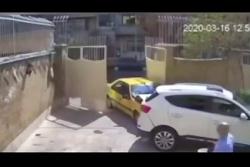 تصادف عجیب راننده تاکس...