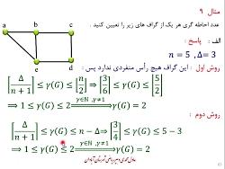 ریاضیات گسسته دوازدهم فصل 2درس 2 پارت 4 زابطه عدد احاطه گری و ماکزیمم درجه